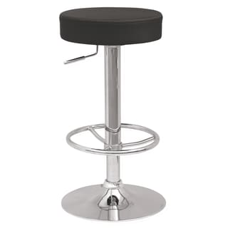Somette Backless Pneumatic Gas Lift Adjustable Stool with Three Extra Slip Cover Colors