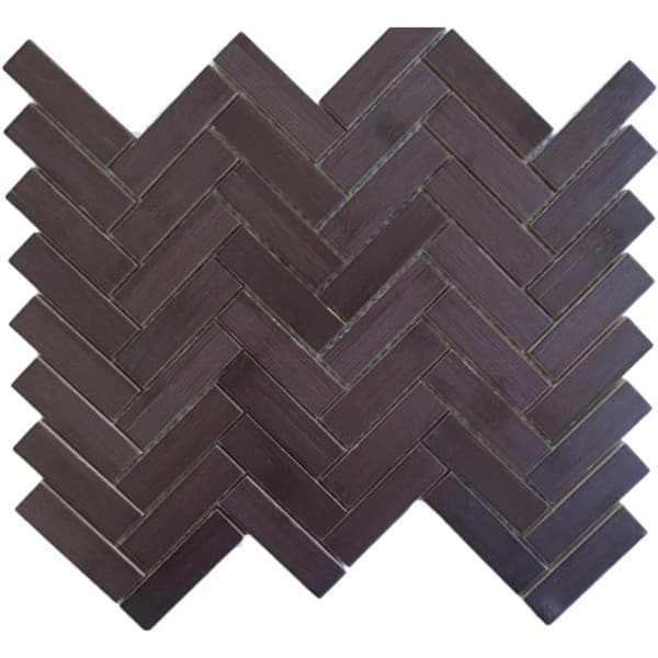 Herringbone Chevron Espresso Dark Wood