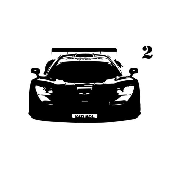 shop 'mclaren' muscle car graphic vinyl wall decal - free shipping