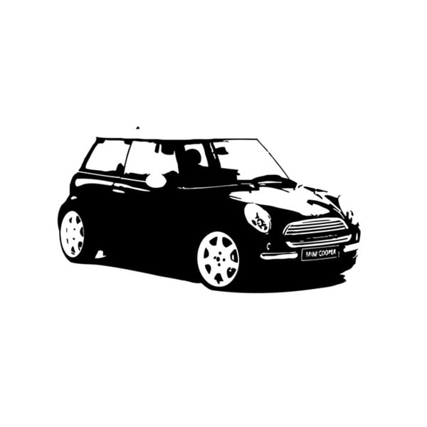 Black Mini Cooper Vinyl Wall Decal