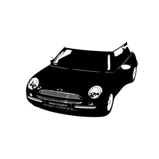 Mini Cooper Front View Vinyl Decal