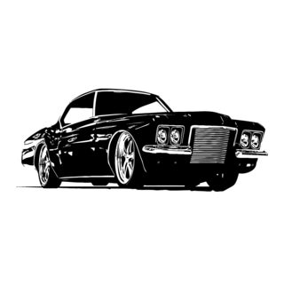 Parked Car Automobile Vinyl Wall Art Decal
