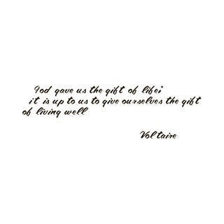 Quote Saying Voltaire Life Vinyl Wall Art Decal