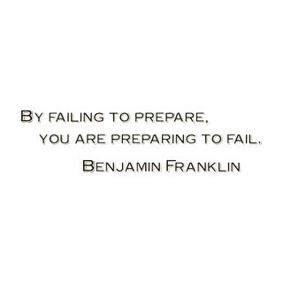 Motivational Quote 'By Failing...' Black Vinyl Wall Decal