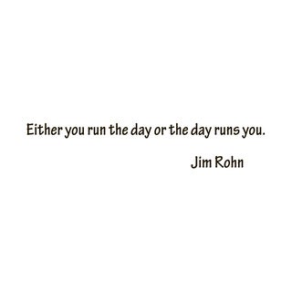 Motivational Quote 'Either You Run...' Black Vinyl Wall Decal