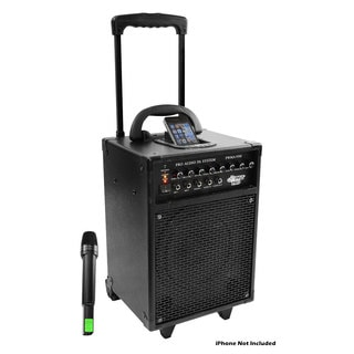 PylePro 600-watt VHF Wireless Portable PA System with iPod Dock (Refurbished)