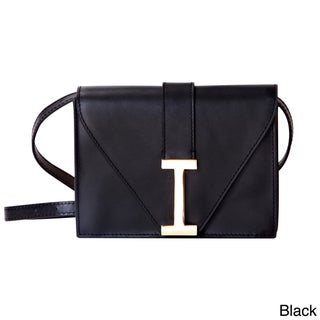 """Isaac Mizrahi Women's Genuine Leather """"I"""" Clutch (2 options available)"""