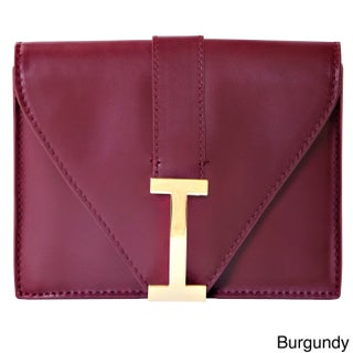 "Isaac Mizrahi Women's Genuine Leather ""I"" Clutch (Option: Red)"