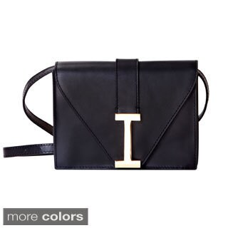 "Isaac Mizrahi Women's Genuine Leather ""I"" Clutch (2 options available)"