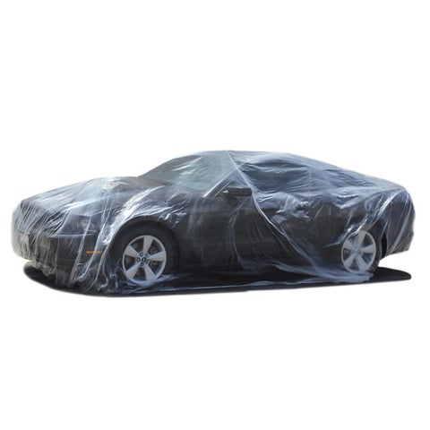 Oxgord Disposable Plastic Auto Cover Temporary Paint Protector Sizes for Cars and Large Vehicles (SUV / Truck / Van)