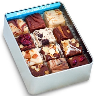 Hand-crafted Assorted Flavor Fudge Gift Tin (12 Pieces)