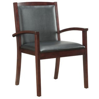 Bently Mahogany Frame Upholstered Guest Chair