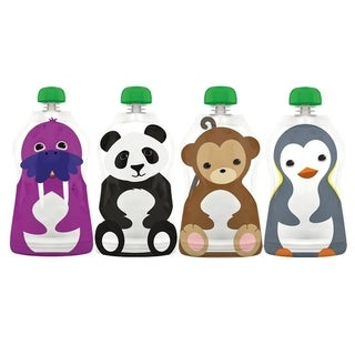 Squooshi 4.5-ounce Reusable Large Food Pouches (Pack of 4)