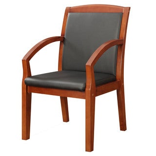 Bently Cognac Frame Slant Arm Guest Chair