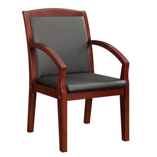 Bently Mahogany Frame Slant Arm Guest Chair