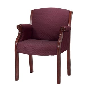 Traditional Bordeaux Cherry Guest Chair