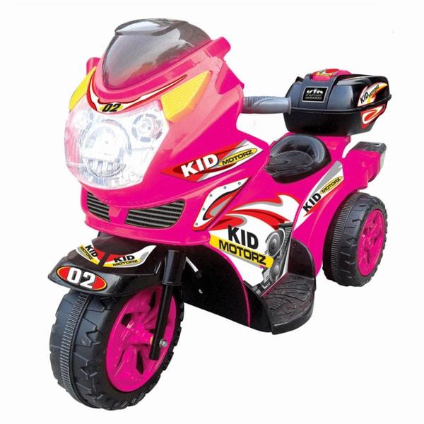 Kid Motorz Pink Ride-On Motorcycle
