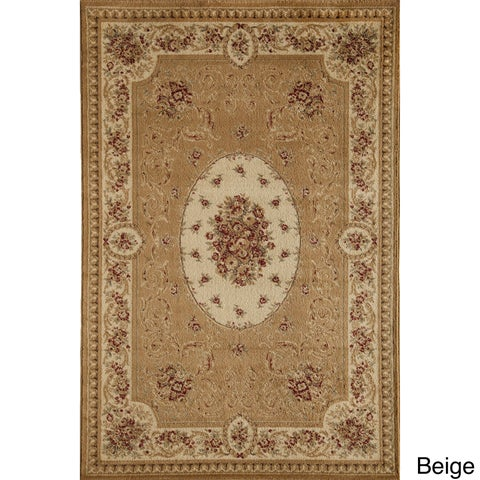 Florence Cream/ Multi Traditional Floral Area Rug - 5'3 x 7'10