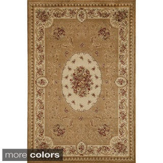 Florence 7724 Cream/ Multi Traditional Floral Area Rug (5'3 x 7'10) - 5'3 x 7'10