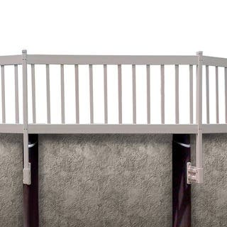 Shop Gli Above Ground Pool Fence Kit 8 Section White