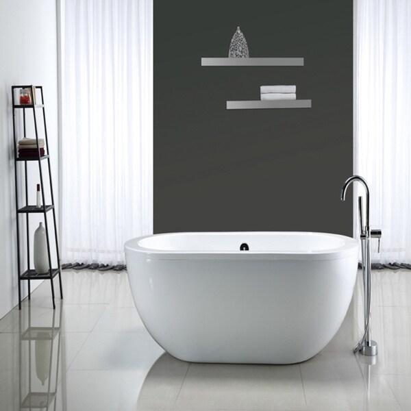 Ove Decors Serenity 71 Inch Freestanding Acrylic Tub