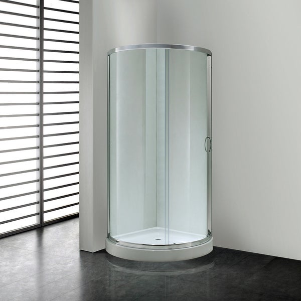 OVE Decors Breeze 36 Inch Base And Glass Panels Shower Enclosure Free Shipp
