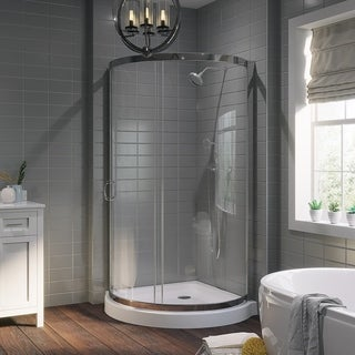 OVE Decors Breeze 36-inch Base and Glass Panels Shower Enclosure