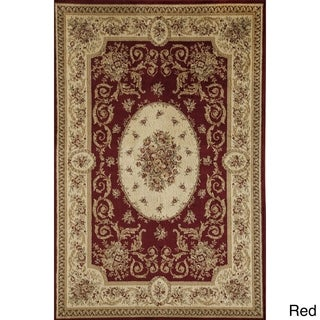 Florence Cream Traditional Floral Area Rug - 6'7 x 9'6
