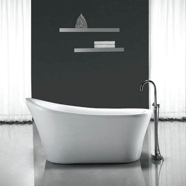shop ove decors rachel 70-inch freestanding bathtub - ships to