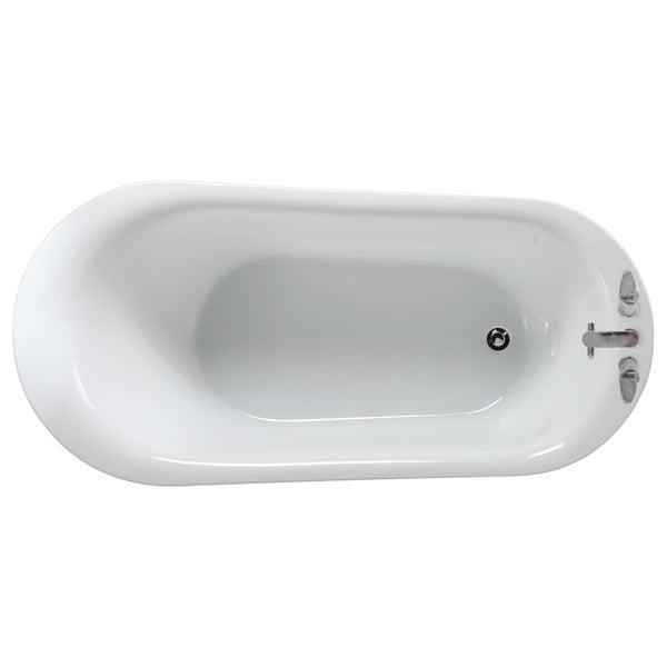 OVE Decors Rachel 70 Inch Freestanding Bathtub   Free Shipping Today    Overstock.com   16128241