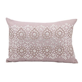 Mina Victory Luminescence Brilliant Damask Lavender Throw Pillow (12-inch x 18-inch) by Nourison
