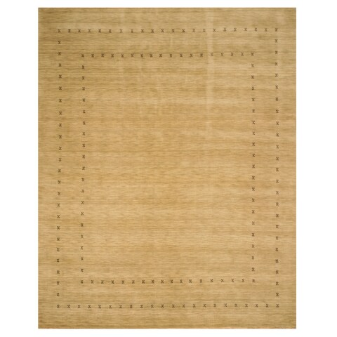 Handmade Wool Beige Traditional Tribal Lori Baft Rug - 6' x 9'