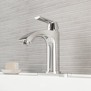 Vigo Single-lever Modern Chrome Faucet with Deck Plate