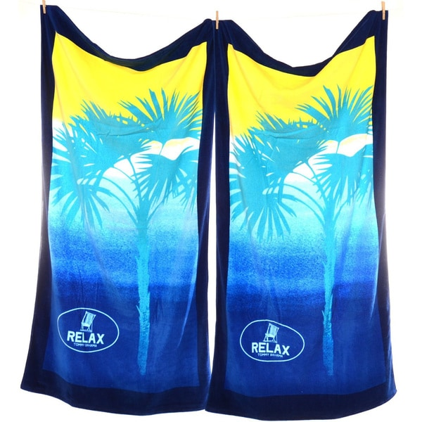 Tommy bahama ombre palm beach towel set of 2 free for Bahama towel chaise cover