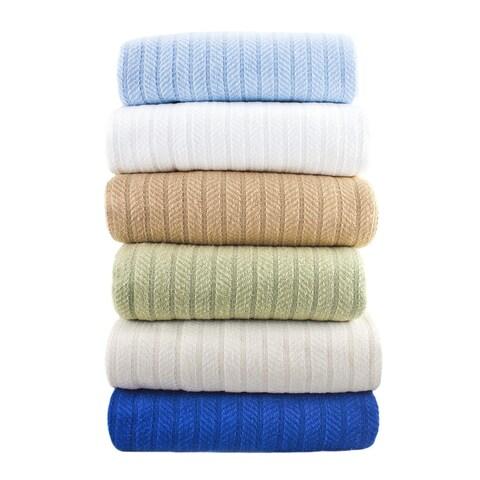 All-season Herringbone Knit Weave Cotton Blanket