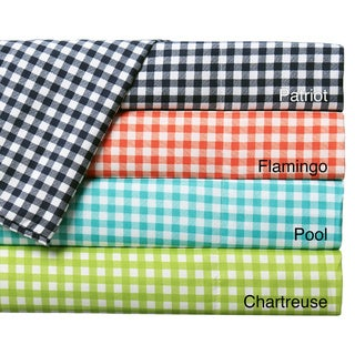 Expressions Gingham Printed Easy Care Sheet Sets