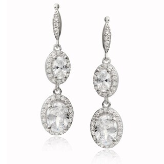 Journee Collection Sterling Silver Cubic Zirconia Dangle Earrings