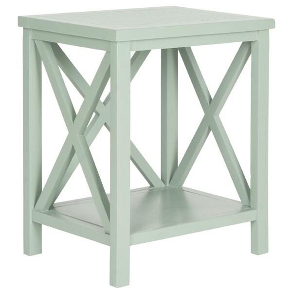 Safavieh Candence Medium Grey Cross Back End Table