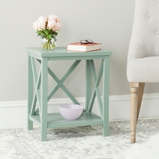Safavieh Candence Medium Grey Cross Back End Table