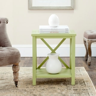 Safavieh Candence Avocado Green Cross Back End Table
