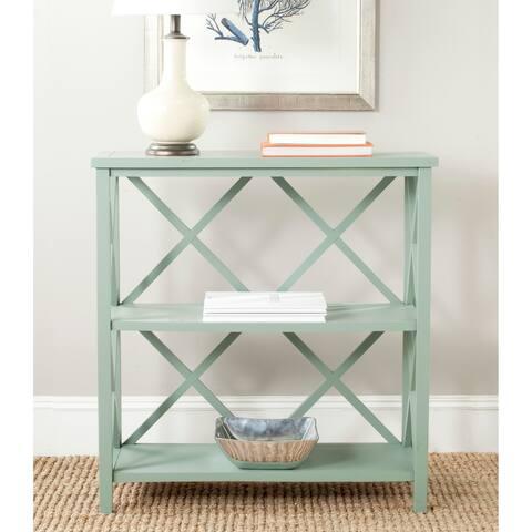 "Safavieh Liam Medium Green Open Bookcase - 33.5"" x 13.5"" x 35.6"""
