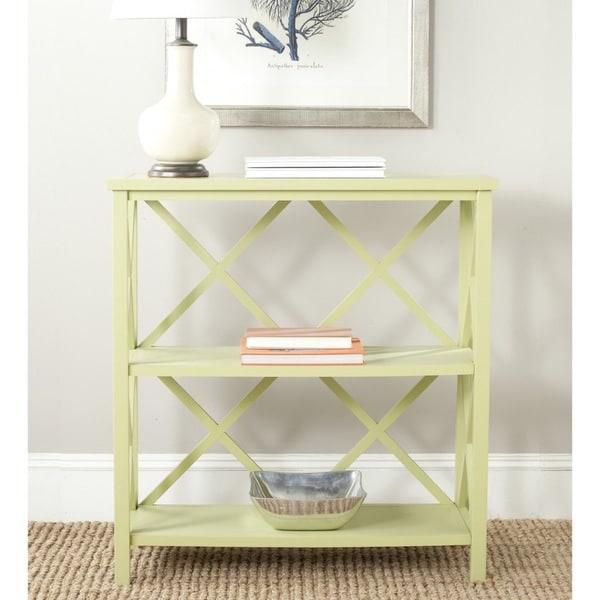 Safavieh Liam Avocado Green Open Bookcase