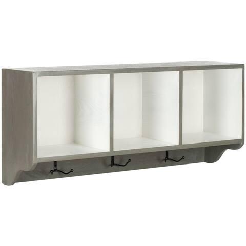 """Safavieh Alice Ash Grey/ White Wall Shelf - 33.5"""" x 9.1"""" x 15"""""""