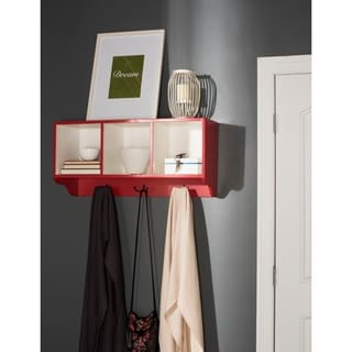 Safavieh Alice Red/ White Wall Shelf