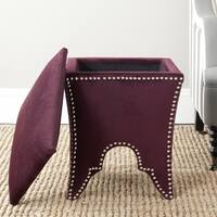 Safavieh Deidra Storage Bordeaux Cotton Ottoman