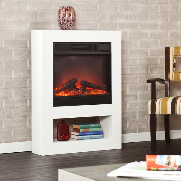 Holly Martin Mofta White Electric Fireplace Free Shipping Today 16128501