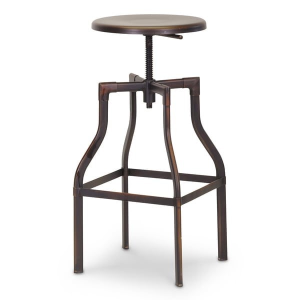 Industrial Metal 26 30quot Adjustable Bar Stool by Baxton  : Baxton Studio Architects Industrial Bar Stool with Backrest in Antiqued Copper 2e9e5461 1546 424f 85ec 107a83d603ec600 from www.overstock.com size 600 x 600 jpeg 15kB