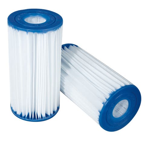 Type C Replacement Pool Filter Cartridge (Pack of 4) - White