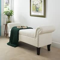 Jennifer Taylor Kathy Roll Arm Entryway Accent Bench