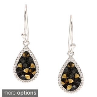 La Preciosa Sterling Silver Crystal Filled Teardrop Earrings